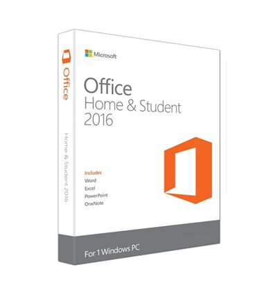 SOFTWARE MICROSOFT OFFICE 2016 HOME&STUDENT - OFFICE 2016 HOME