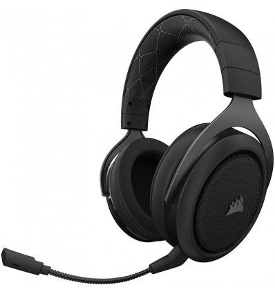 AURICULARES CORSAIR HS70 WIRELESS 7.1 NEGRO CARBON