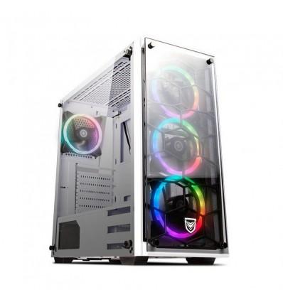 CAJA NFORTEC PC DRACO V2 GAMING RGB BLANCA