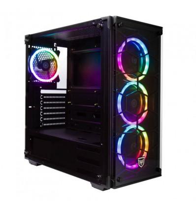 CAJA NFORTEC PC DRACO V2 GAMING RGB NEGRA
