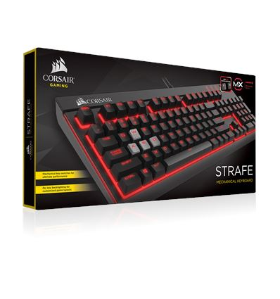 TECLADO CORSAIR GAMING STRAFE CHERRY MX RED - CORSAIR STRAFE MX RED
