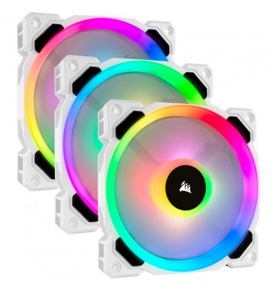 VENTILADOR CAJA CORSAIR LL120R RGB PACK 3 BLANCO