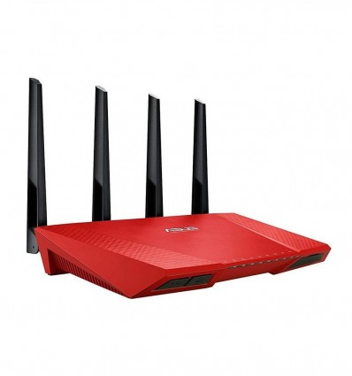 ROUTER ASUS RT-AC87U WIRELESS DUAL BAND ROJO