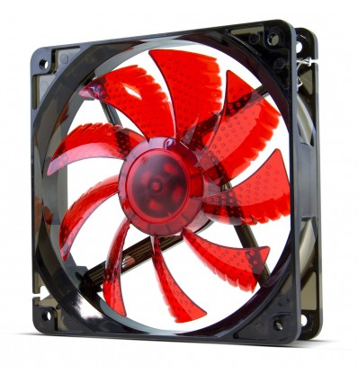 VENTILADOR CAJA NOX COOL FAN ROJO 120MM