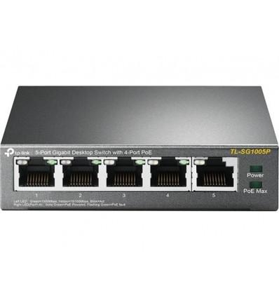 SWITCH 5 PUERTOS TP-LINK TL-SG1005P GIGABIT 4POE