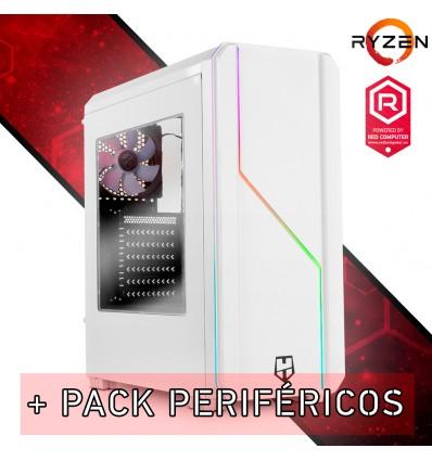 Ordenador RED Gamer Warzone Ryzen 3 3300X/GTX 1660/8GB/Pack de periféricos