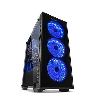 CAJA NOX HUMMER TG FAN BLUE ATX - CJ01NX23