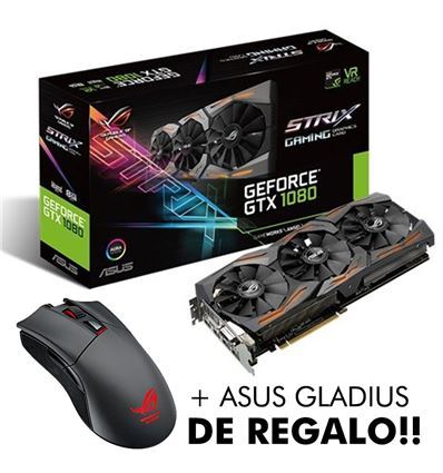 TARJETA GRAFICA ASUS GTX1080 8GB STRIX + GLADIUS - TG01AS02P
