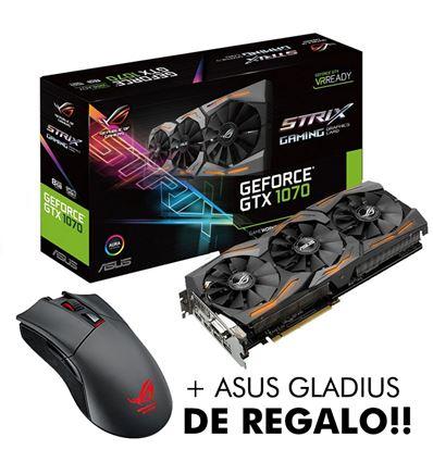 TARJETA GRAFICA ASUS GTX1070 8GB STRIX + GLADIUS - TG01AS03P