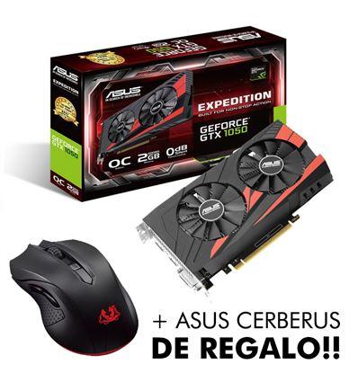 TARJETA GRAFICA ASUS GTX1050 2GB EXP. + CERBERUS - ASUS GTX1050 2GB EXPEDITIONP
