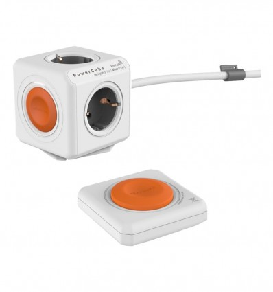REGLETA POWER CUBE NARANJA 4 TOMAS + CABLE 1.5
