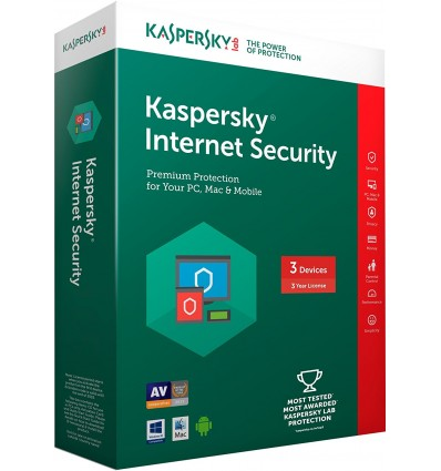 ANTIVIRUS KASPERSKY 2017 INTERNET SECURITY 3 LIC