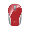 RATON LOGITECH M187 WIRELESS ROJO/BLANCO