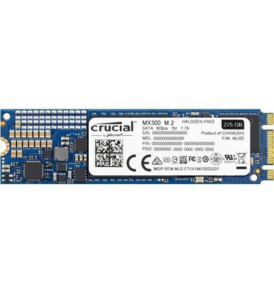 DISCO SSD CRUCIAL 275GB M.2 SATA CT275MX300SSD4 - disco-ssd-crucial-275gb-mx300-ct275mx300ssd4-m-2