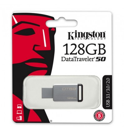 MEMORIA PENDRIVE KINGSTON 128GB DT50/128GB USB 3.1