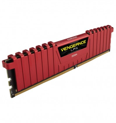 MEMORIA CORSAIR 8GB DDR4 2666 VENGEANCE ROJA