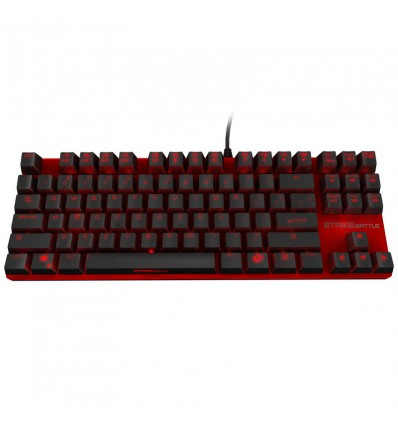 TECLADO OZONE STRIKE BATTLE NEGRO CH. MARRON MECAN