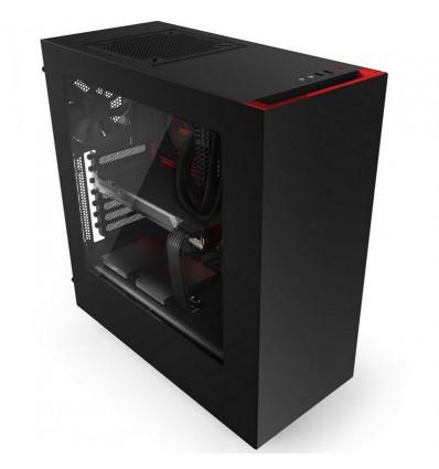 CAJA SEMITORRE NZXT S340 BLACK/RED