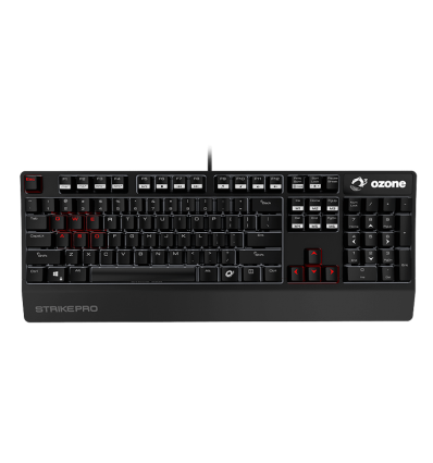 TECLADO OZONE STRIKE PRO CHERRY RED