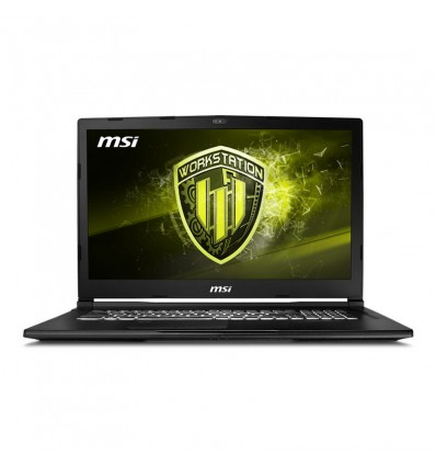 PORTATIL MSI WE73-080XES I7-8750 16GB 256+1TB