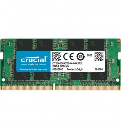MEMORIA CRUCIAL 4GB DDR4 SODIMM 2400 CT4G4SFS824A