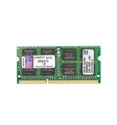 MEMORIA KINGSTON 8GB DDR3 1600 SODIMM KVR16LS11/8