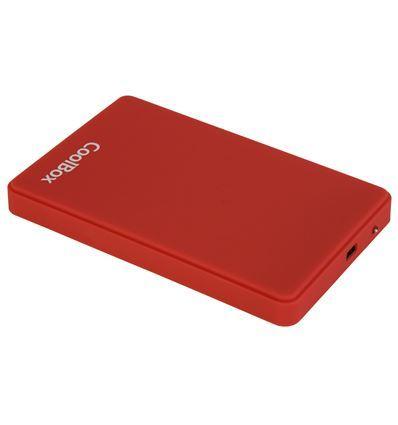 CAJA EXTERNA COOLBOX SCG2542 ROJO 2.5 USB 2.0 - COOLBOX SCG2542 ROJO