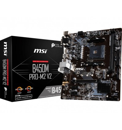 PLACA BASE MSI B450M PRO-M2 V2 SOCKET AM4