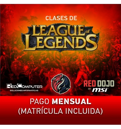 CLASES LEAGUE OF LEGENDS RED DOJO BY MSI PAGO MENS