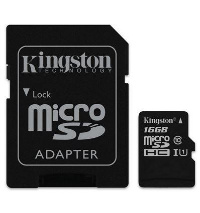 MEMORIA MICRO SD KINGSTON 32GB + ADAPTADOR CLASS10 - KINGSTON 16GB CL10